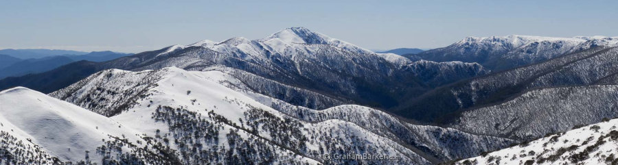 Mt Feathertop and the Razorback ridge from the Great Alpine Road, Victoria
