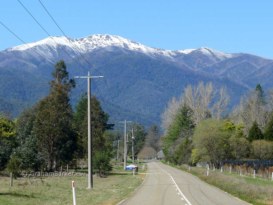 Mt Feathertop, approaching Harrietville. From the Great Alpine Drive, Victoria