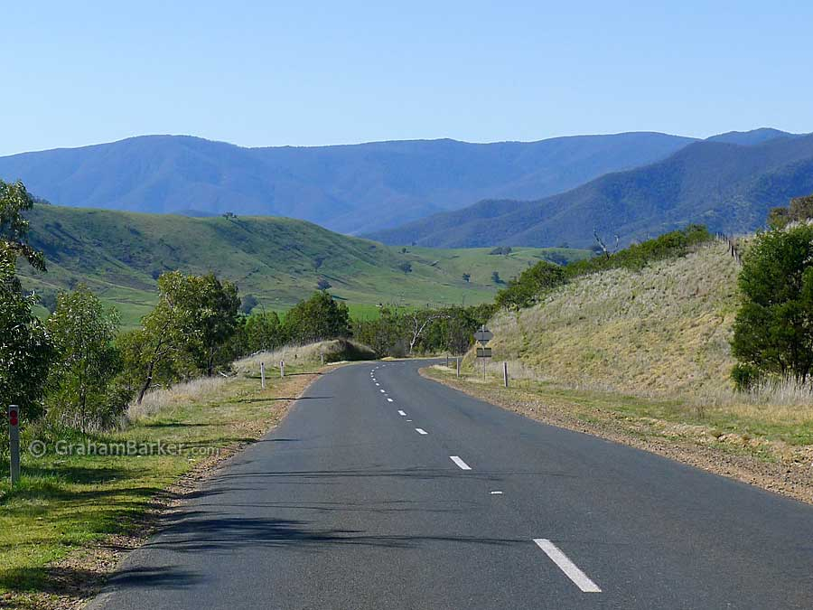 Descending from Omeo on the Great Alpine Drive, Victoria