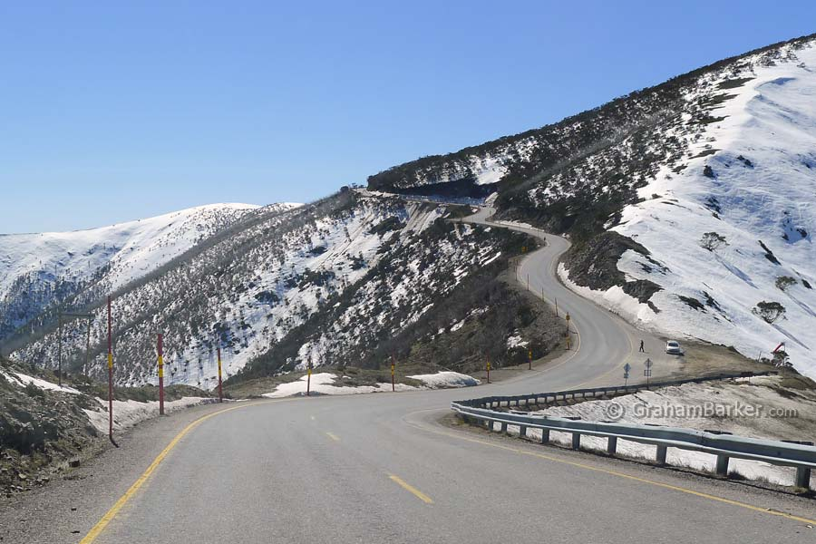Approaching Mt Hotham on the Great Alpine Drive, Victoria