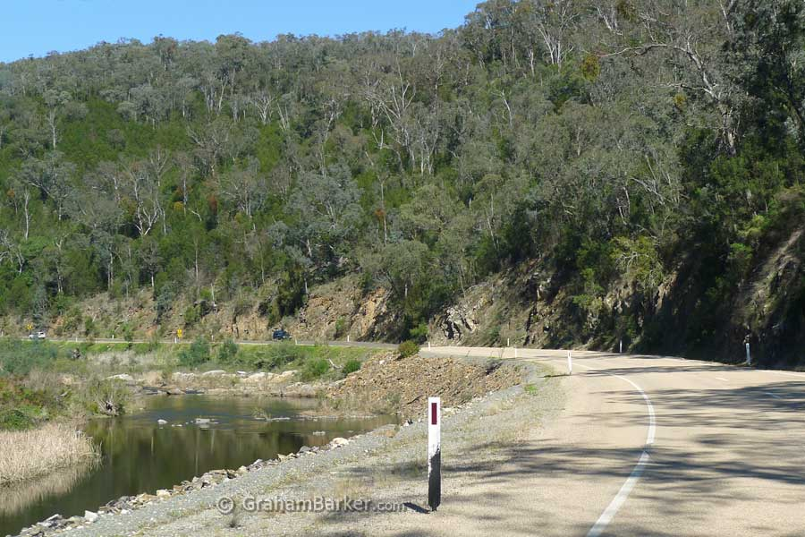 Following the Tambo River, Great Alpine Drive, Victoria
