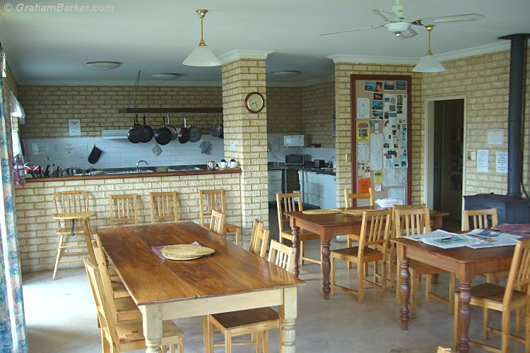 Dining area and kitchen at Baywatch Manor, Augusta, Western Australia