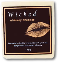 Label on a cheese from Wicked Cheese Co