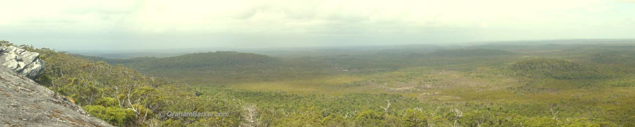 Panorama from Mt Chudalup near Northcliffe in Western Australia