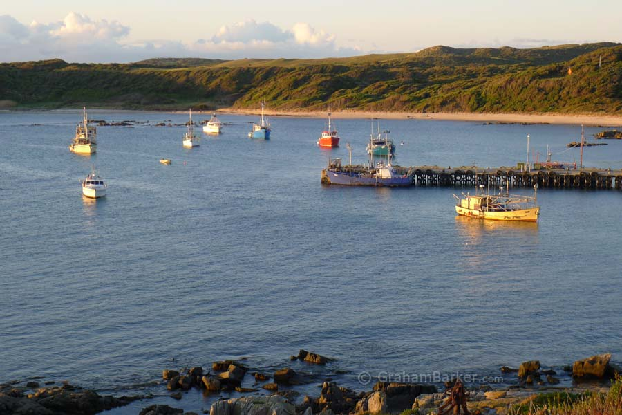 Currie Harbour at dusk, King Island