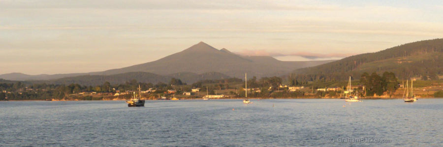 Early morning view across the Esperance Bay at Dover, Tasmania