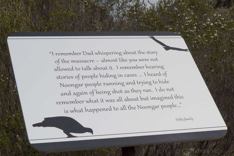 One of the plaques on the walk trail, Kukenarup memorial, Ravensthorpe, Western Australia