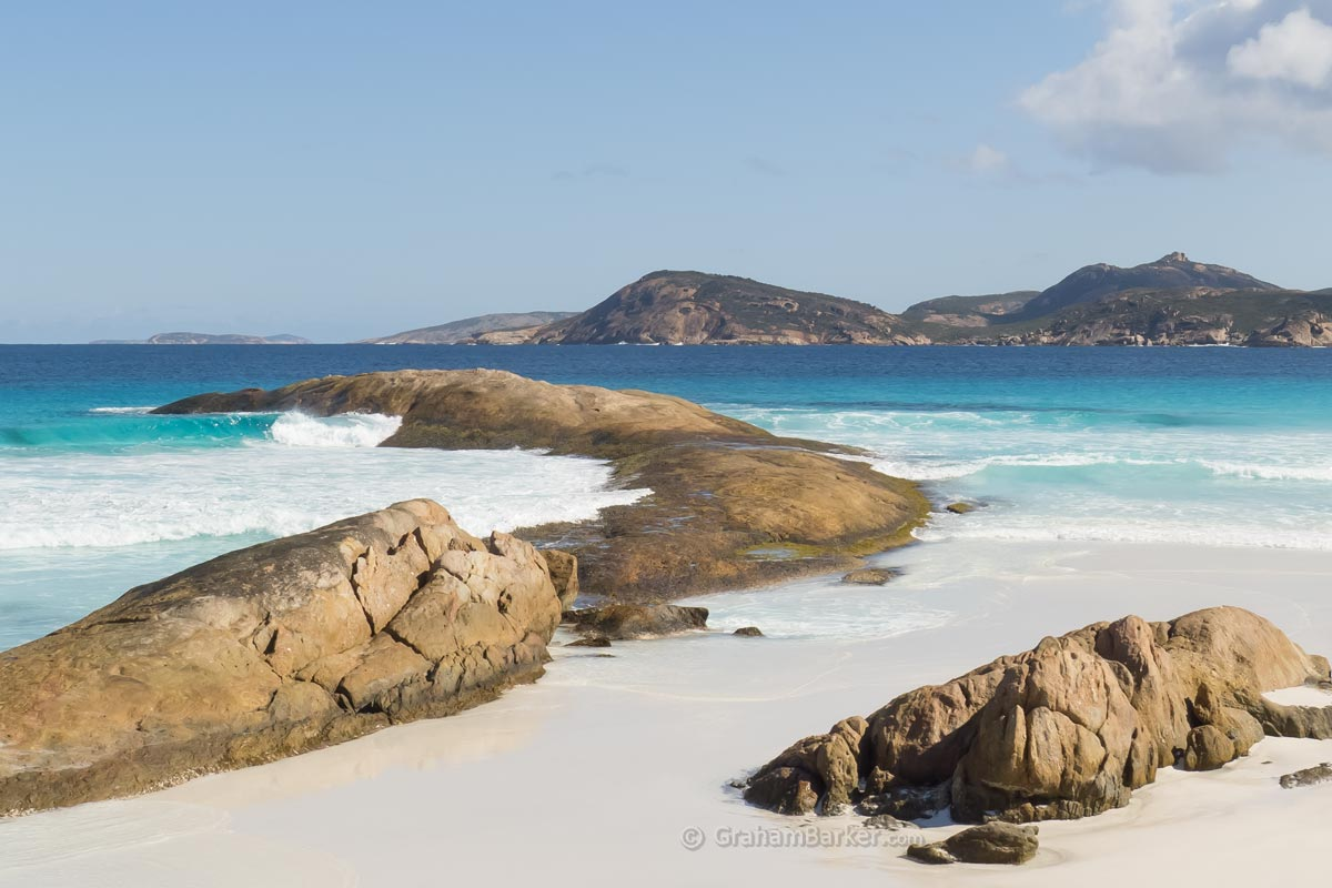 Lucky Bay, Western Australia, from east end