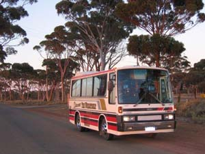 Bus used by Discover The Wheatbelt tours, Merredin, Western Australia (photo is from their website)