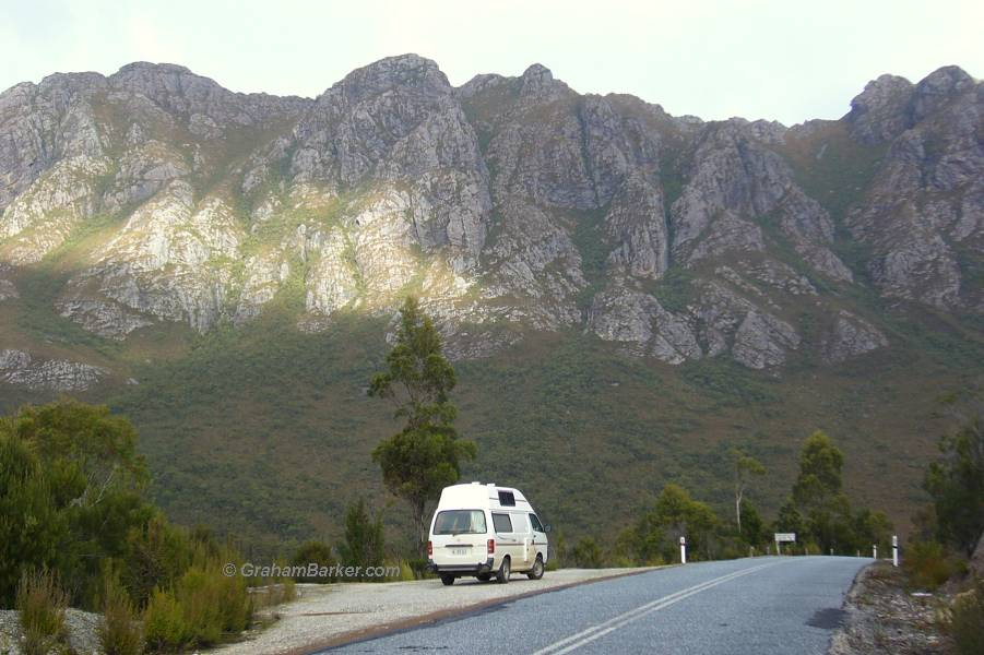 Campervan near Mt Wedge, Tasmania