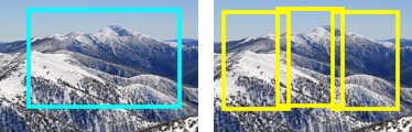 An example of zooming in for a multi-photo panorama to gain more pixels than a single photo