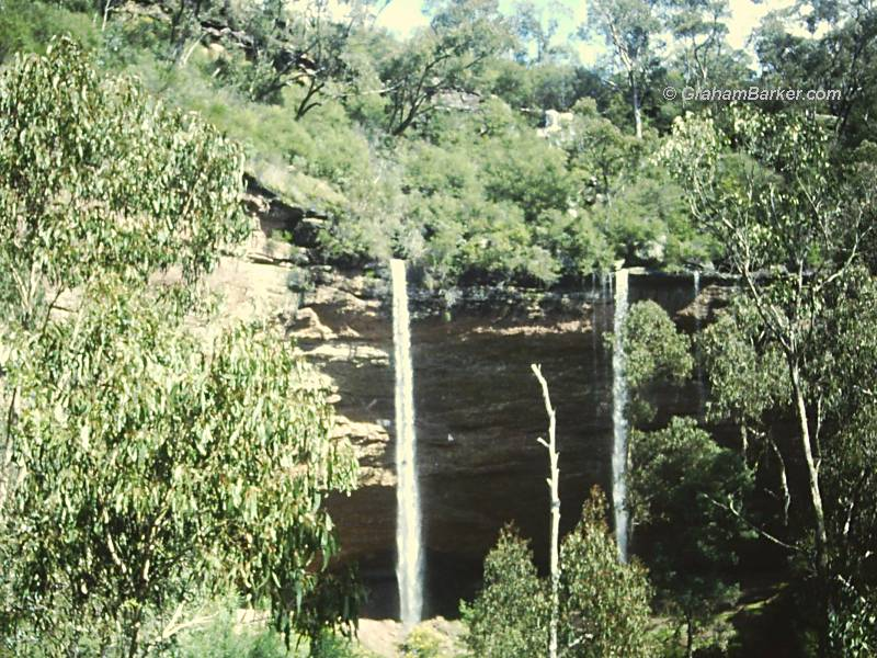 Paradise Falls, Victoria, seen from a distance
