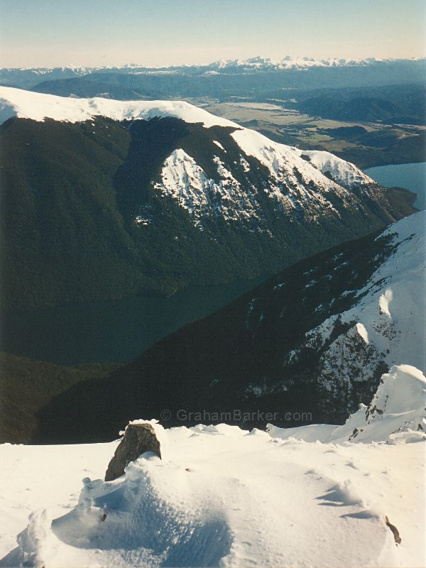 Lake Rotoiti and Mt Robert from the top of Rainbow ski area, New Zealand