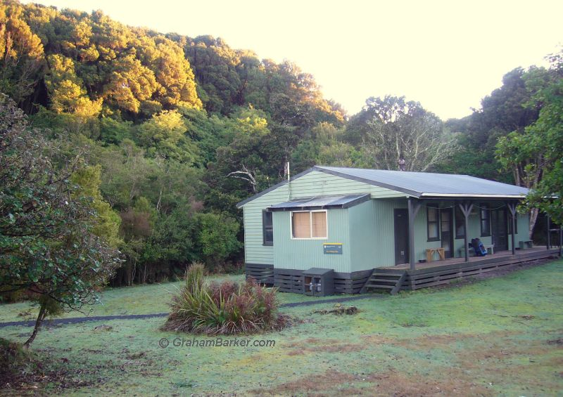 Port William hut on the Rakiura Track, Stewart Island, New Zealand