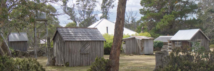 Steppes homestead, Tasmania - some of the rear buildings homestead